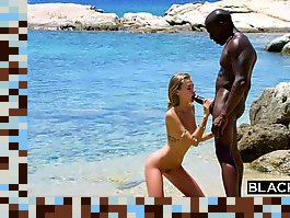 hairy blonde interracial